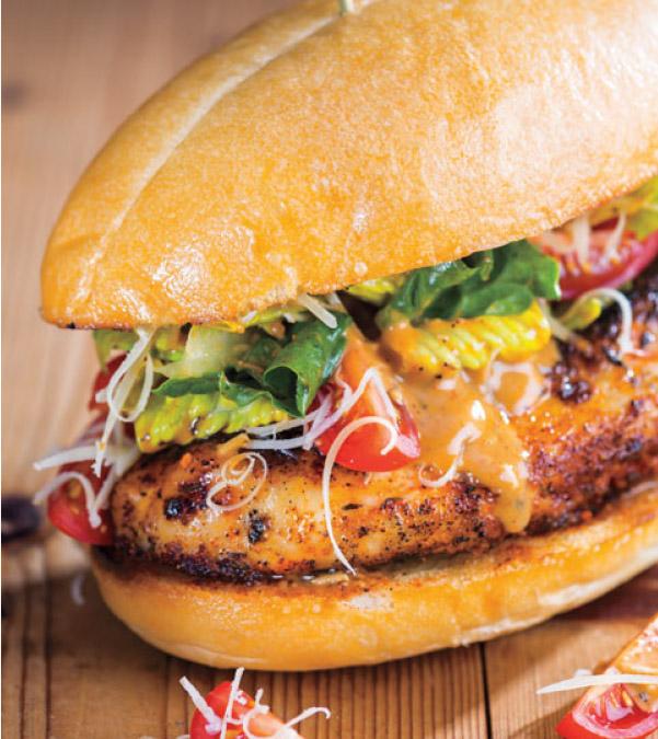 Blackened Chicken Caesar Sandwich