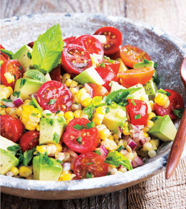 Fresh Corn, Cherry Tomato & Avocado Salad