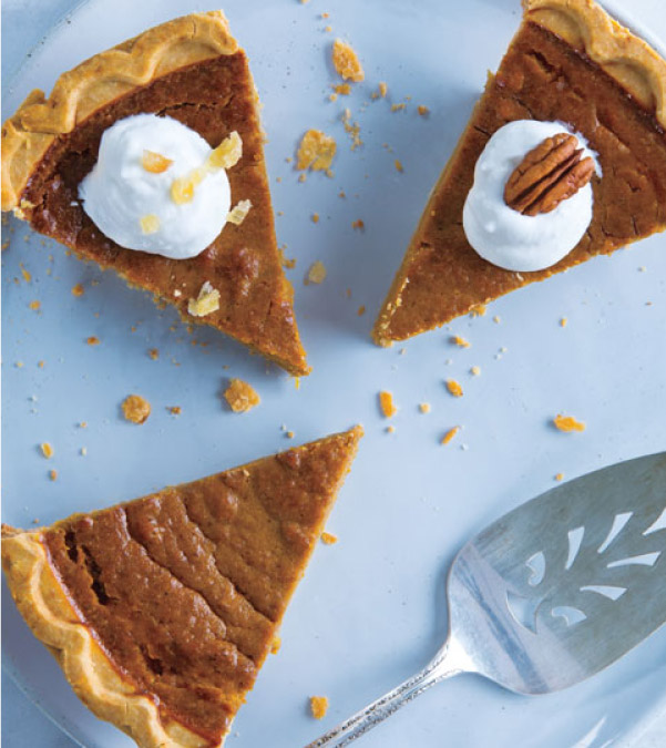 Gluten-Free Gingered Pumpkin Pie
