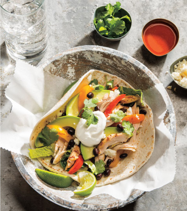 Spice-Rubbed Pulled Chicken Soft Tacos