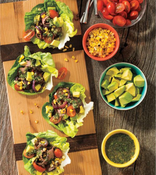 Summertime Steak Lettuce Wraps