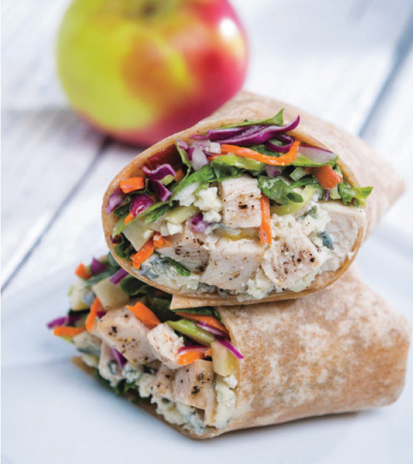 Chicken & Apple-Kale Slaw Wrap