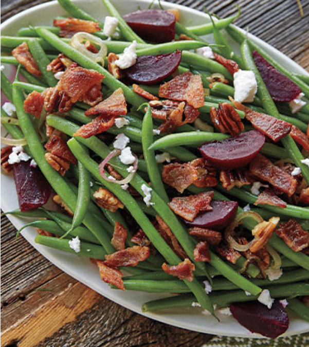 Green Beans with Bacon & Beets