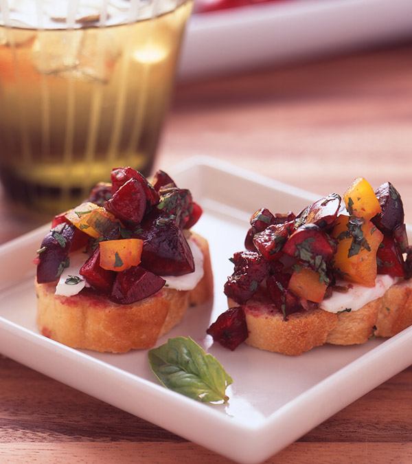 Northwest Cherry Bruschetta