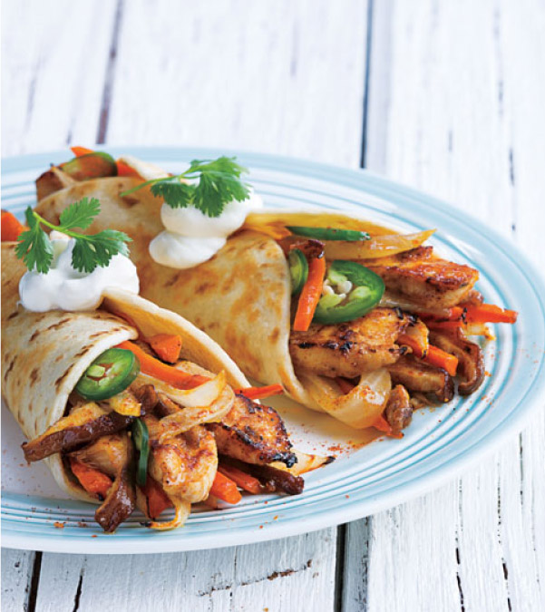 Orange-Ginger Chicken Fajitas