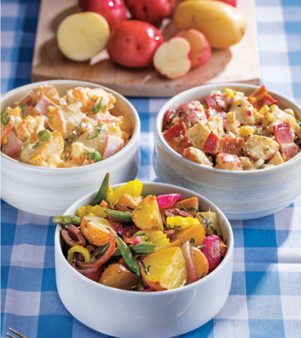 Potato Salad 3 Ways