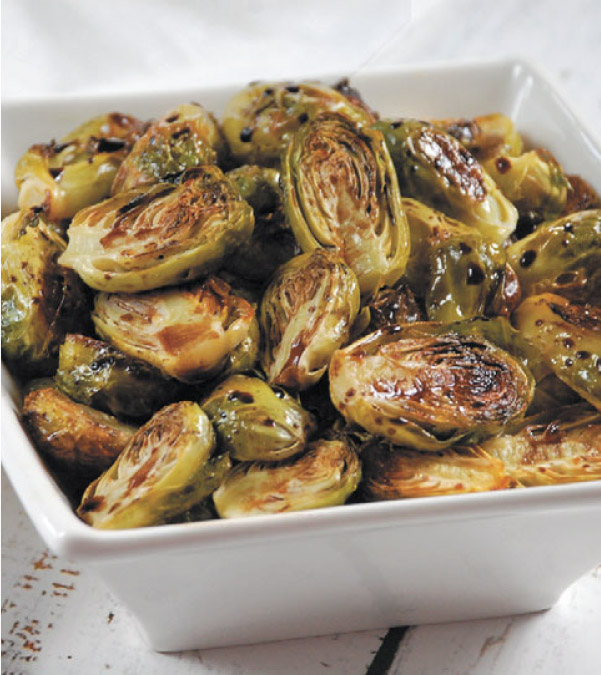 Roasted Brussels Sprouts With Maple Balsamic Glaze
