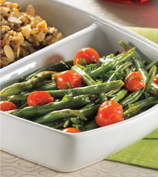Roasted Green Beans & Cherry Tomatoes