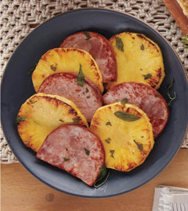 Sheet Pan Ham and Pineapple