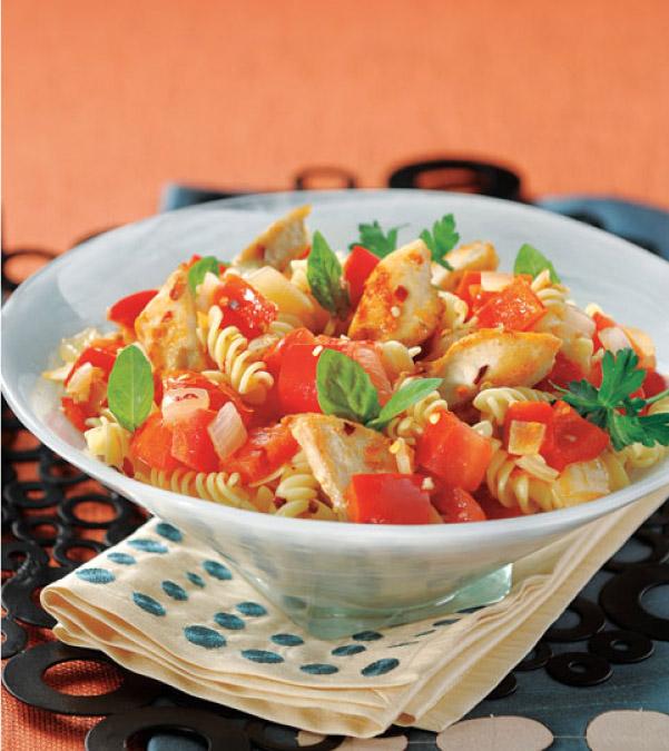 Spicy Red Pepper & Chicken Pasta