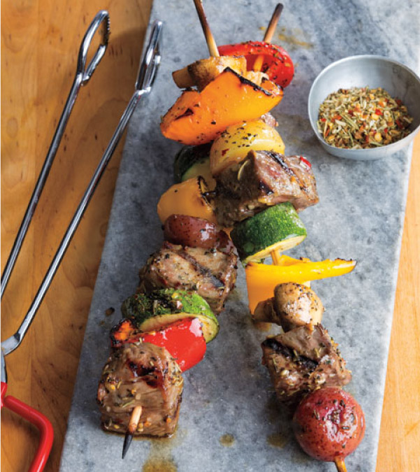 Steak & Veggie Kabobs