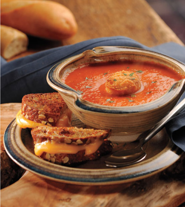 Tomato Bisque with Parmesan Croutons
