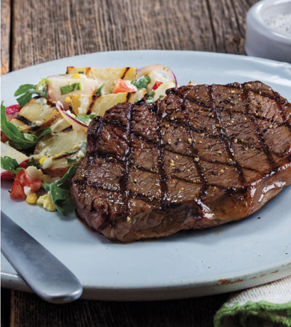 Yogurt-Marinated Top Sirloin Steak & Potato Salad